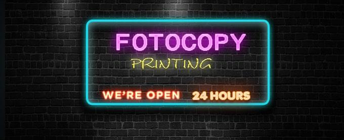 Fotocopy 24 jam