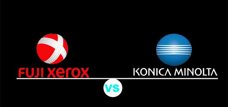 membandingkan Fuji Xerox dengan Konica Minolta