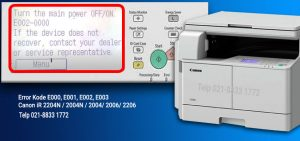 Memperbaiki kesalahan Canon iR 2004